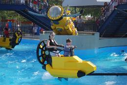 Here's one of the few rides an adult and child can truly enjoy. Bystanders have the opportunity to try and splash riders via buttons that make water explode upwards from the tank below. , Jeff & Kathy - March 2012