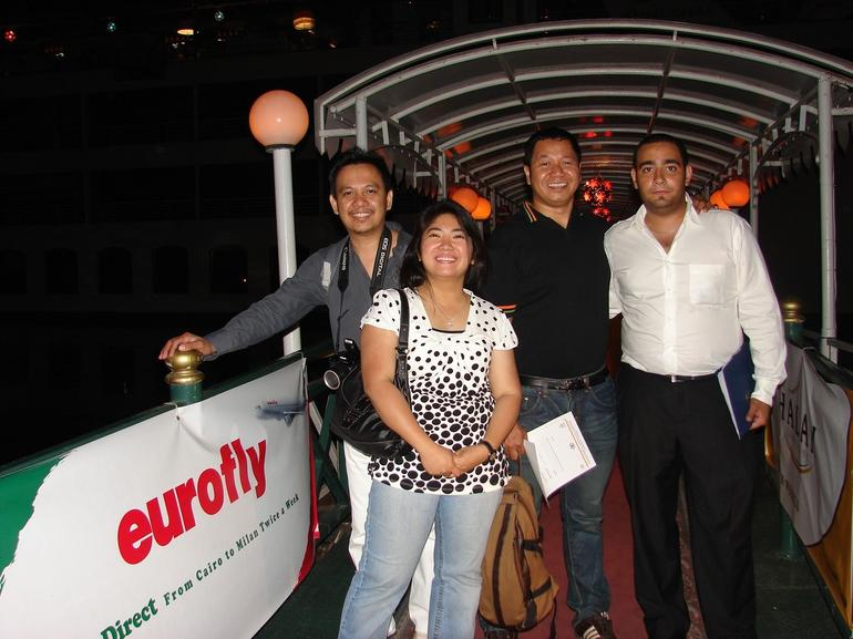 At the Entrance of the Nile Dinner Cruise Ship - Cairo