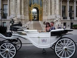 Picture of me and my husband taken by our driver in front of the Petit Palais in Paris., Beth S - August 2009
