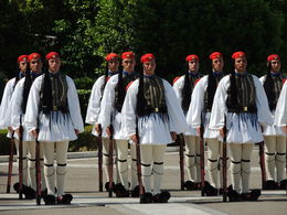 On Sunday mornings at 11 AM there is a large Changing of the Guard in front of the Parliament. , Kevin F - July 2015
