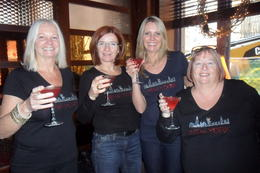 The four of us enjoying cocktails at O'Neals on our Sex and the city tour. , Mary C - December 2012