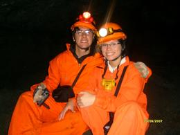 Me and my girlfriend inside the cave, it was great!, Julian R - September 2007