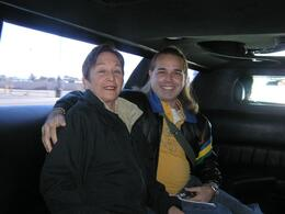 Photo of Las Vegas Grand Canyon All American Helicopter Tour Marta and Antonio ride the limo!