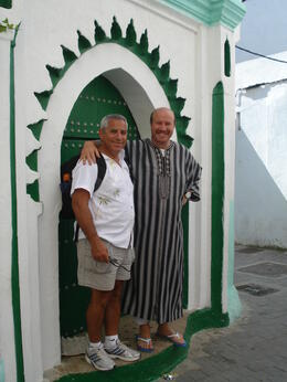 A picture of me and our Moroccan Tour Guide. He was excellent; knowledgable, friendly and well liked by everyone. , David F - August 2011