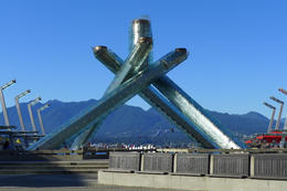 This is the Olympic Torch from the 2005 Olympics. It's right on the harbor. , Dolores M - August 2014