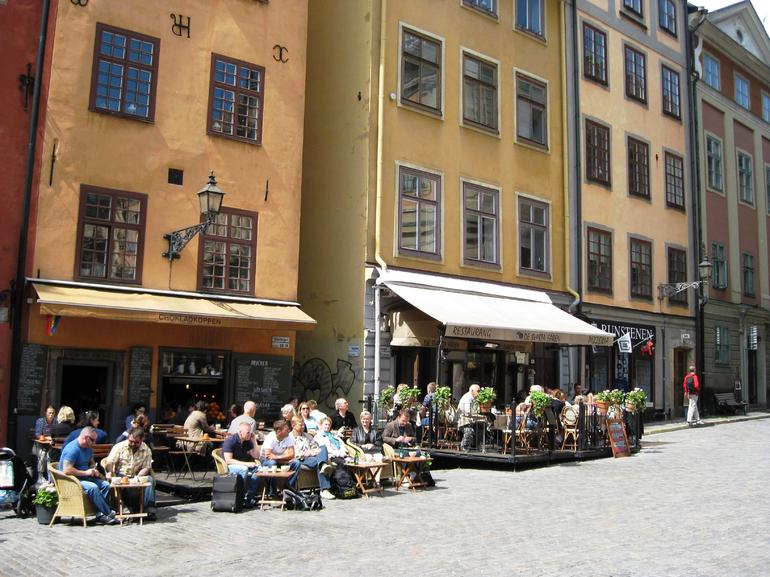 Outdoor cafes in Old Town - Stockholm
