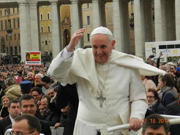 Highlight of my trip to Rome was to see the smiling face of Pope Francis. , Peg B - February 2014