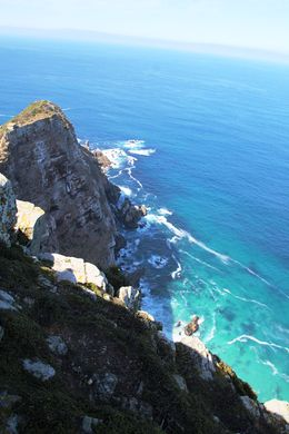 Looking down to the Cape Point from the lighthouse , BethanieKay - April 2016
