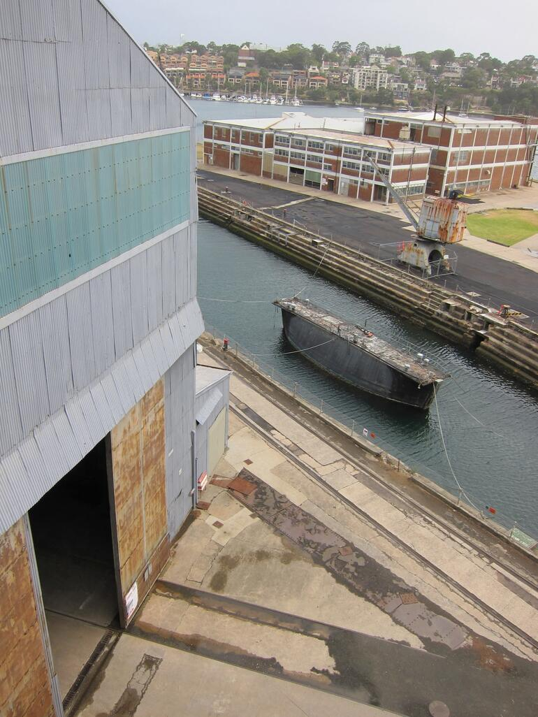 Dry dock from above -