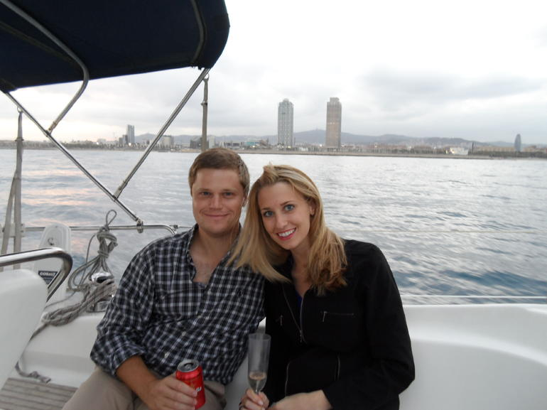 Enjoying our sailing trip! - Barcelona