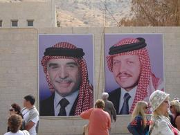 Jordanians love their Royal family and you will see lots of posters of them in many places - this one is placed on the Petra tourist office wall. Please respect them., Olivia Z - November 2008