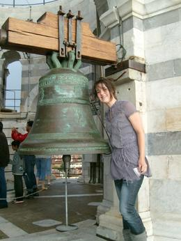 this is me with the bell at the top of pisa, Jaclyn D - September 2010