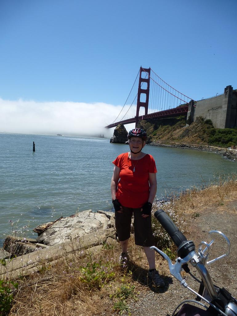 On the Sausalito side of the bridge. - San Francisco