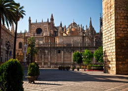 Photo of   Seville Cathedral and Giralda Tower in Spain