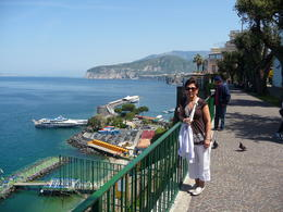 Mercy taking break from shopping to admire the view in Sorrento , Richard M - May 2011