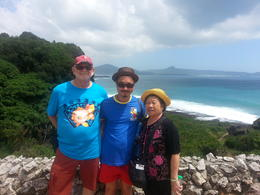 Photo of Taipei 5-Day Best of Taiwan Tour from Taipei: Sun Moon Lake, Taroko Gorge, Kaohsiung and Taitung Three happy tourists joining The Best of Taiwan Tour