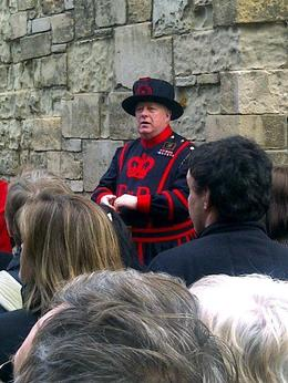 Guided tour with the Beefeater, sarahm - April 2013