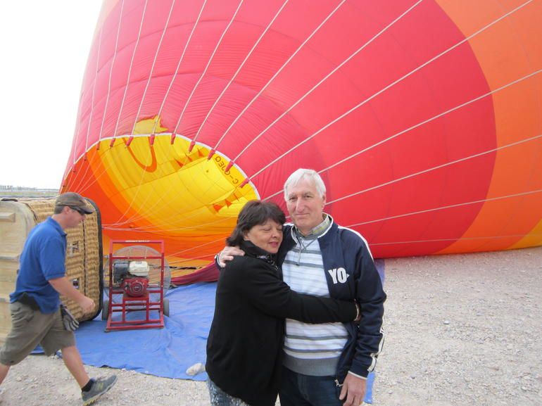 Waiting for the balloon to go up - Las Vegas