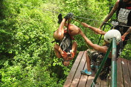 Photo of Cancun Cancun Combo Tour: ATV and Zipline with Cenote Swim Ziplining Upside down