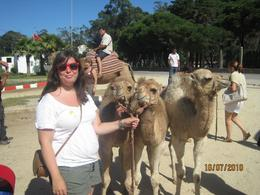 Daughter Karen in a nice photo but the camels owner expected (and received ) payment, Joseph M - July 2010