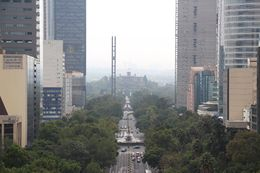 Chapultepec Castle seen from the top of the Angel of Independence - October 2015