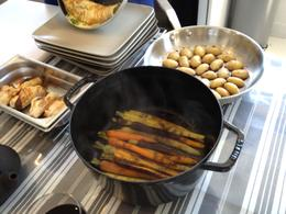 Photo of Paris Small-Group French Cooking Class in Paris Cooking our main course