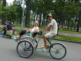 Photo of Ho Chi Minh City Ho Chi Minh Cyclo and Walking Small Group Adventure Tour Cyclo Tour in HCMC