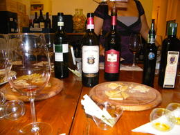 This photo captures the types of wine and cheese we tasted. Bellisimo!! , Kathleen L - October 2012