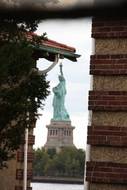 A view of the Statue of Liberty from one of the rooms in the hospital. , Toni A - September 2015