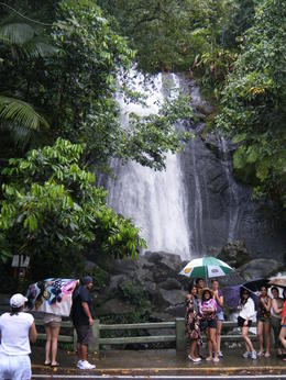 Photo of San Juan El Yunque Rainforest and Luquillo Beach from San Juan La Mina Falls