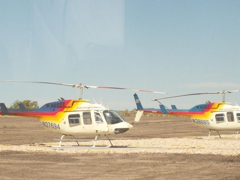 Our awaiting helicopters - Las Vegas