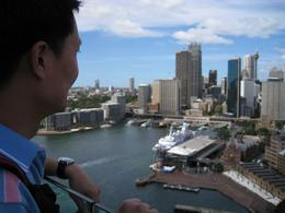 My hubby is taking in the breathtaking sights of Sydney., Tze Yi K - March 2008