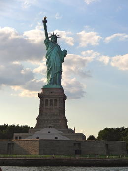 The boat stops right near the Statue of Liberty with plenty of time to take photos. Much better than being inside and climbing stairs for hours! , Kerry M - August 2013