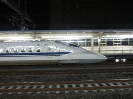 We reached the bullet train station after dark at this time of the year. The trains reach 138 mph. , Gregory B - December 2011