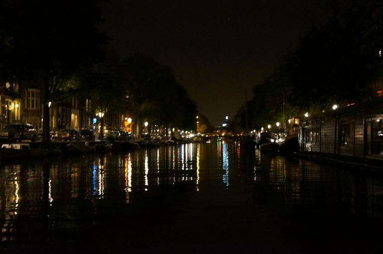View from top of boat. - Amsterdam