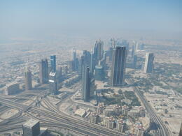 from the open observation deck on Burj Khalifa , Robert W - May 2014