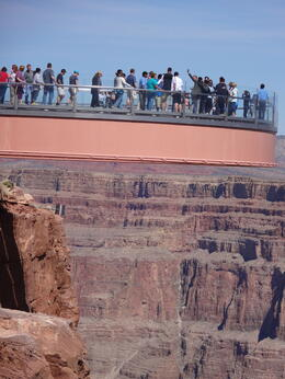 Photo of Las Vegas Grand Canyon and Hoover Dam Day Trip from Las Vegas with Optional Skywalk Vu de la passerelle skywalk