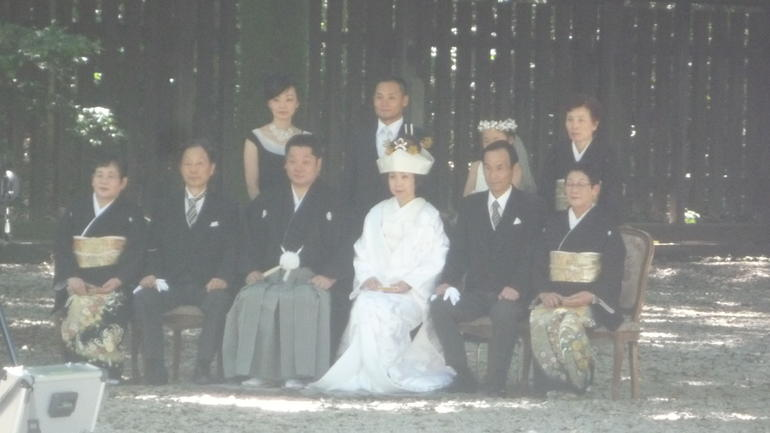 We saw a Shinto wedding going on in the shrine. - Tokyo