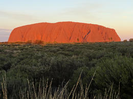Ayers rock turned a magnificent red just before the sun set it was a great experience , Angela A - June 2014