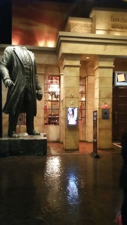 Vladmir Lenin statue at Mandalay Bay. , ashes - February 2016