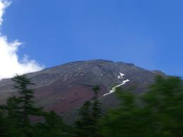 A view of Mt Fuji from the bus ! It can be cloudy but keep looking and persevere - you can get at a result !, JOHN V - August 2010