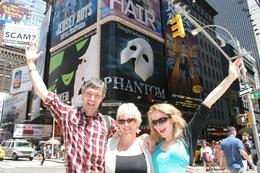 Times Square: Christopher, Janet and Beth from London, UK enjoying the May sunshine in NY, Janet S - June 2010