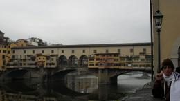 My husband with Ponte Vecchio, Hernani A - October 2009