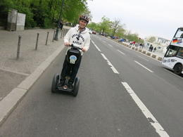 Riding the segway on the road , Simone N - July 2013