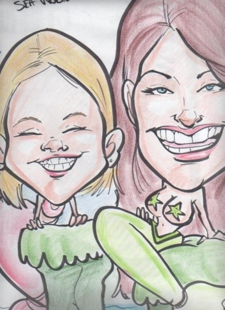 seaworld characature -