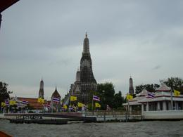 View of temple from Chao Phraya, canal tour, ANA MARIE G - November 2007