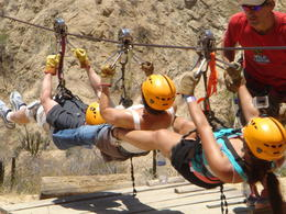 Photo of Los Cabos Los Cabos Canopy Tour Three on a tandem line!