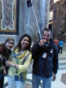 Got a picture with our tour guide Joseph in St. Peter's Basilica! , AW A - June 2013