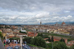 Photo of Florence Florence City Hop-on Hop-off Tour view from Piazzale Michelangelo