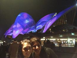 Sydney Opera House during VIVID Sydney, Cat - December 2013